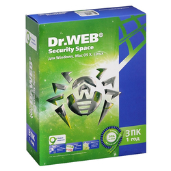 Dr.WEB Security Space 3 ПК/1 год (BHW-B-12M-3-A3)