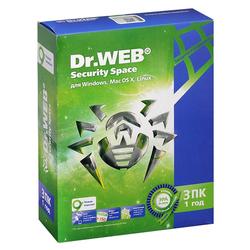 Dr.WEB Security Space 3 ПК/1 год (BHW-B-12M-3-A3)