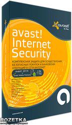 Avast! Internet Security 2014 на 12 месяцев, для 1 ПК Коробочная версия