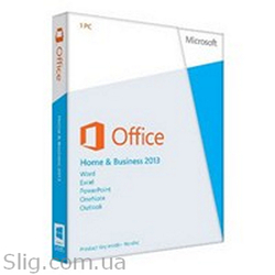 Программное обеспечение Microsoft Office 2013 (T5D-01783) (Home and Business, 32/ 64-bit, Ukr, 1pk DVD, BOX)