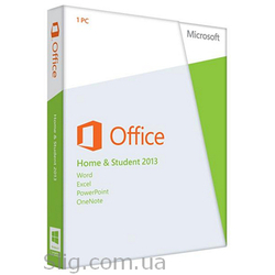 Программное обеспечение Microsoft Office 2013 (79G-03573) (Home and Student, 32/ 64-bit, Eng, 1pk DVD, BOX)