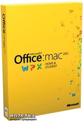 Office Mac Home Student 2011 Russian PK Lic Online DwnLd 1Mac NR (GZA-00228)