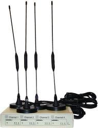 GSM VoIP шлюз KTS 4SM-4i, SIP, 4 GSM канала, 1 sim на канал,  4 антенны Штырь 5 db