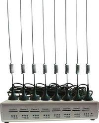 GSM VoIP шлюз KTS 8SM-4, SIP, 8 GSM каналов, 1 sim карта на 1 канал, 8 антенн Бабочка 2.5 db