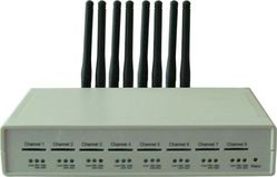 GSM VoIP шлюз KTS 8SM-3, SIP, 8 GSM каналов, 1 sim карта на 1 канал, 8 антенн Бабочка 2.5 db